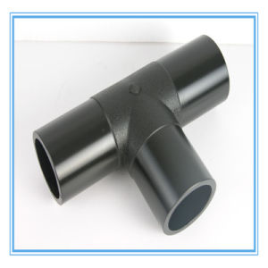 HDPE Black Plastic Tee Pipe Fittings pictures & photos