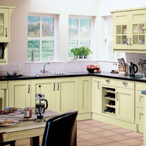 Ritz Free CAD Design Affordable Wood Kitchen Cabinet pictures & photos