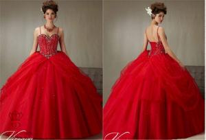 Bra Waist Beaded Bodice Chiffon Evening Party Prom Dress pictures & photos