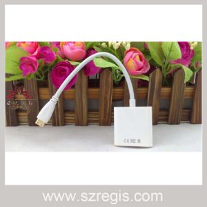 24cm Mini HDMI to VGA Adapter Coaxial Cable pictures & photos
