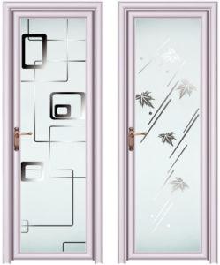 New Products Aluminium Glass Toilet Door for Bathroom
