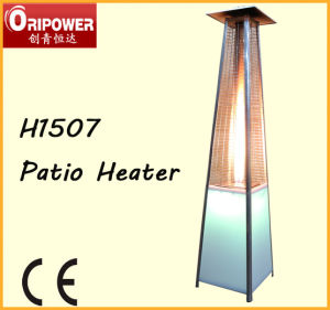 LED Lights Real Flame Patio Heater (H1507) pictures & photos