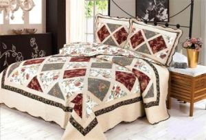 Multifunctional Imitation Patchwork Quilt Printed Cotton 4PCS Bedding Set Quilt pictures & photos