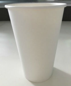 White Blank Disposable Paper Cup with Stable Quality