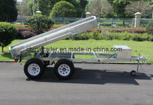 10X5FT Hot Dipped Galvanized Heavy Duty Hydraulic Tipping Trailers pictures & photos