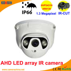 50m LED Array IR Dome 1.3 Megapixel Ahd Camera pictures & photos