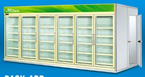 Customized Wall Type Beverage Display Showcase Freezer for Supermarket pictures & photos