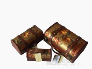 Decorative Small Wooden Suitcase Box