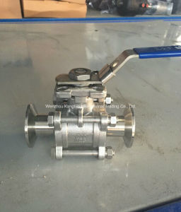 API Sanitary Tri-Clamp 3PC Ball Valve with Mounting Pad pictures & photos
