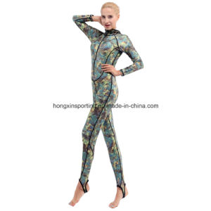 Women`S Long Nylon Lycra Rash Guard for Swimwear, Sportswear and Surfing Suit pictures & photos