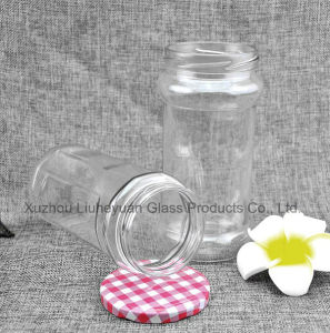 740ml Food Grade Transparent, Cylindrical, Wide Mouth Coffee Cans Storage Glass Jar pictures & photos