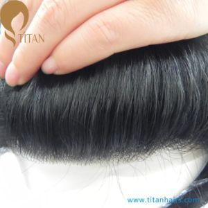 """7""""X9"""" V Loop Four Lace with Thin Skin Hair Toupee pictures & photos"""