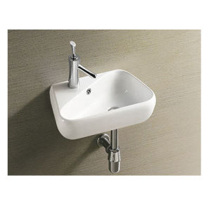 European Style Bathroom Face Basin Wall Hung Basin pictures & photos