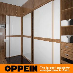 Oppein Walnut U-Shaped Wardrobe with Sliding Doors (YG16-A02) pictures & photos