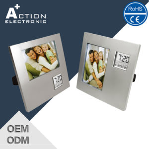 Cheap Decorative Photo Frame Digital Table Clock pictures & photos