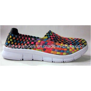 Fashion Shoes Weave Shoes Slip-on Shoes Boat Shoes for Women pictures & photos