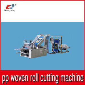 PP Plastic Woven Cloth Roll Cut Into Piece Machine pictures & photos