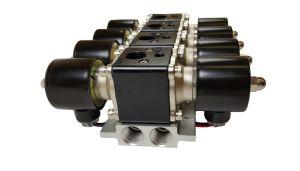 Truck Part Solenoid Valve Air Ride Suspension Manifold Valve Two Dual Digital Air Gauges Panel 4 Switches pictures & photos