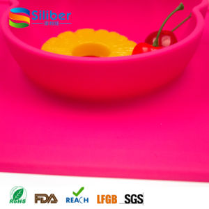 Factory Wholesale Silicone Baby FDA Approved Baby Placemat Non-Slip Silicone Table Mat Meal Mat pictures & photos