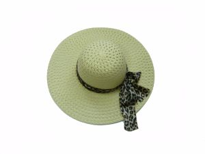 Multicolor Large Edge Lady Hat with Leopard Ribbon pictures & photos