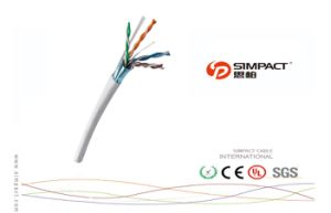 Water Proof FTP Cat5e Outdoor Cable-Simpact pictures & photos