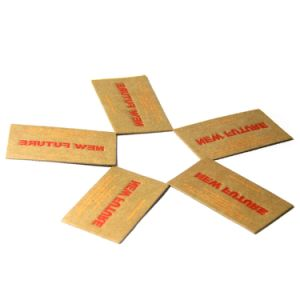 Custom Fashion Design Leather Labels with Different Material Available pictures & photos