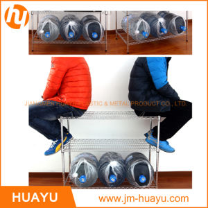 Heavy Duty 3 Tiers Display Home Storage Chrome Steel Wire Rack Wire Shelf pictures & photos
