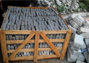 Light Grey Paving Stone, Cobble Stone, Cube Stone pictures & photos