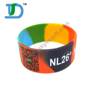 Qr Code Wristband ID Silicone Bracelet with Qr pictures & photos