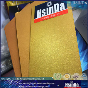 Metallic Gold Epoxy Polyester Hybrid Powder Coating pictures & photos