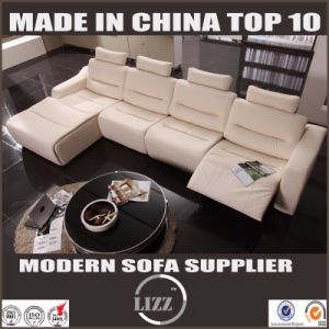 2017 Home Furnitures Modern L Shape Leather Recliner Couch pictures & photos