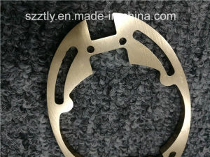 Custom 6063 Anodised Champagne Machined Aluminium Extrusion Profile pictures & photos
