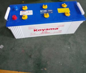 12V 120 Dry Charged Battery Acid Battery N120 pictures & photos