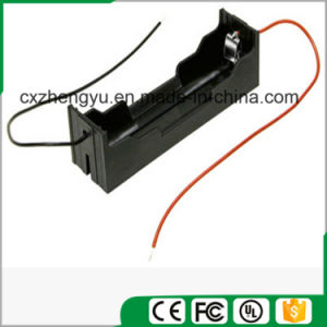 1X 18650 Battery Holder with Red/Black Wire Leads