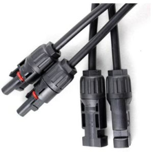 Mc4y 1 to 2 Panel Connectors M-FF and F-mm Branch Working Current 20-30A Mc4y-B2 pictures & photos