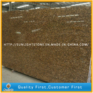 Natural Polished Giallo Fiorito Granite Slabs for Tiles/Countertops&Worktops pictures & photos