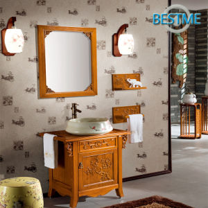 Gold Yellow Color Cabinet for Bathroom (BF-8072) pictures & photos