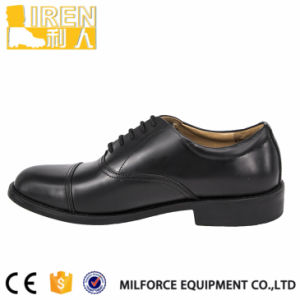 Genuine Leather Black Men Office Shoes pictures & photos