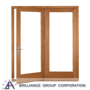 Wood Color French Aluminium Bedroom Door pictures & photos