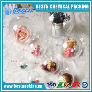 Fillable Transparent Ornament Christmas Hollow Two Part Plastic Ball pictures & photos