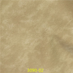 Scratch-Resistant Scrub Synthetic PU Material Leather for Shoes pictures & photos