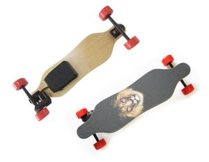 Fashionable Belt Motor 4 Wheels Electric Mini Longboard Skateboard pictures & photos