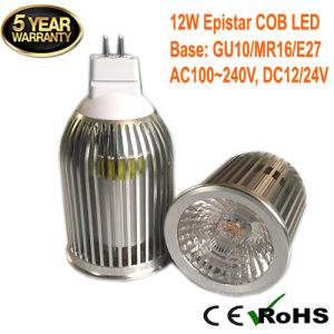 Ce RoHS GU10 MR16 E27 12W COB LED Ceiling Spotlight pictures & photos