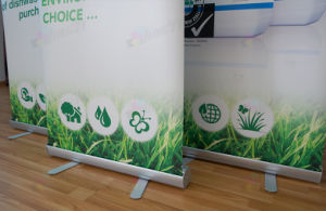PVC vinyl Graphic Banner Aluminum Alloy Pull up Banner Stand pictures & photos
