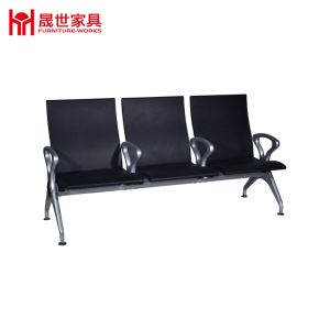 China Manufacturer PU Leather 3 Seater Stainless Steel Airport/ Hospital/Salon Waiting Chair pictures & photos