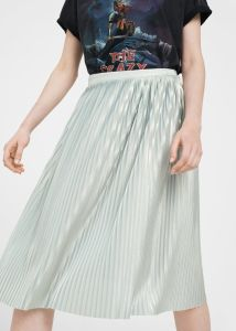 Flowy Fabric Metallic Pleated Skirt pictures & photos