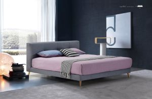 Italian Modern Style King Size Fabric Bed Double Bed (HC856) pictures & photos
