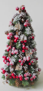Big X′mas Decoration Topiary with Berry and Snow pictures & photos