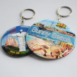 Keychain Keyring Mirror with Custom Printable Tin Button pictures & photos