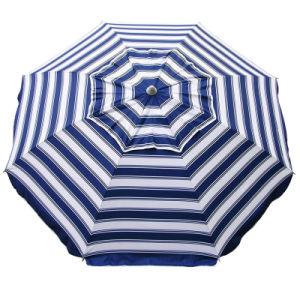 Cotton Polyester Beach Umbrella in Navy/White Stripe 210cm 98% UV Protection pictures & photos